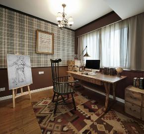 田园 旧房改造 小资 书房图片来自北京今朝装饰在田园三居室的分享