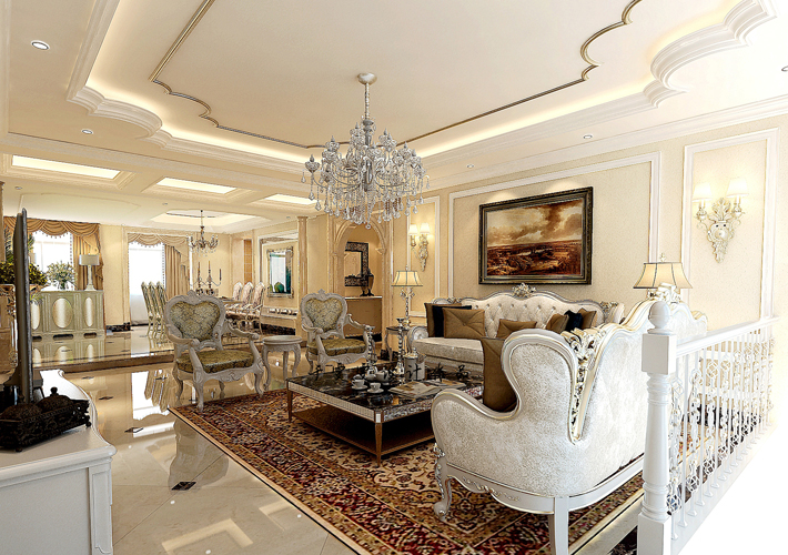 别墅 白领 80后 小资 客厅图片来自辽宁百家装饰在悦圣湾 300平欧式别墅的分享