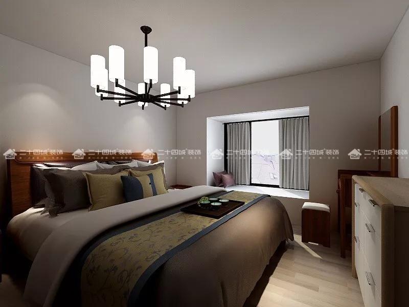 欧式 白领 收纳 80后 小资 旧房改造 简约 混搭 文艺青年 卧室图片来自二十四城装饰(集团)昆明公司在恒水源  北欧的分享