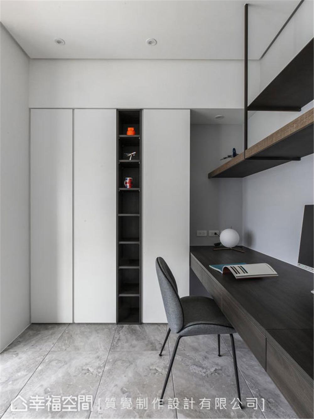 简约 三居 装修设计 旧房改造 书房图片来自幸福空间在102平, 走入最纯粹的梦。静的分享