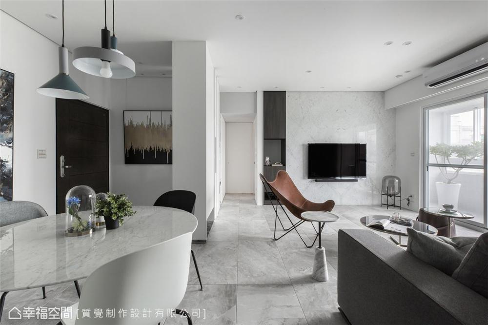简约 三居 装修设计 旧房改造 客厅图片来自幸福空间在102平, 走入最纯粹的梦。静的分享