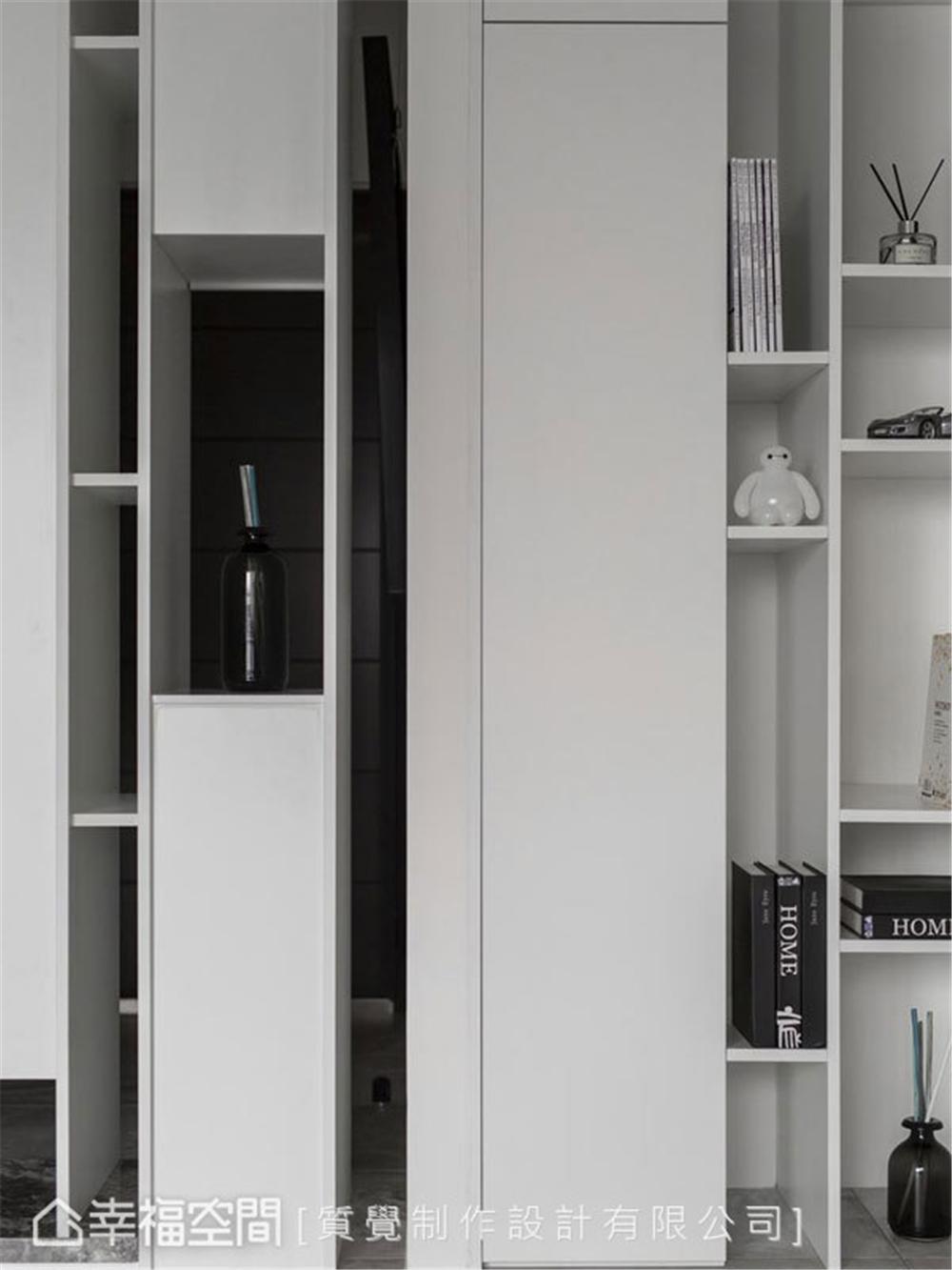 简约 三居 装修设计 旧房改造 玄关图片来自幸福空间在102平, 走入最纯粹的梦。静的分享
