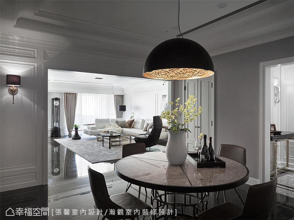 现代风格 装修设计 装修完成 餐厅图片来自幸福空间在182平,582魔法  黑白灰个性宅的分享