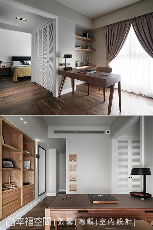 现代风格 装修设计 装修完成 书房图片来自幸福空间在182平,582魔法  黑白灰个性宅的分享