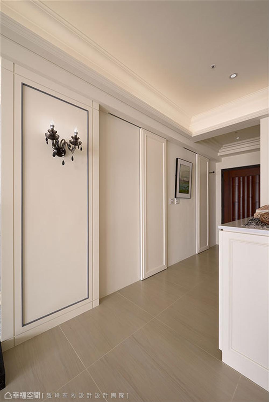 装修设计 装修完成 新古典风格 小资 玄关图片来自幸福空间在132平,三款色!优雅新古典温度的分享