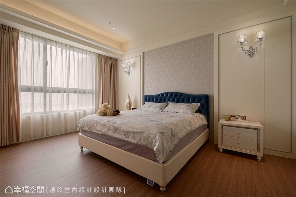 装修设计 装修完成 新古典风格 小资 卧室图片来自幸福空间在132平,三款色!优雅新古典温度的分享