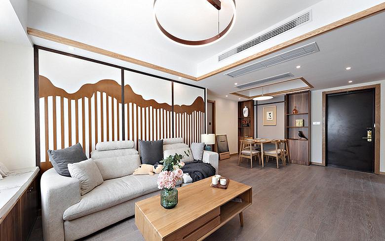 客厅图片来自家装大管家在暖暖生活 108平新中式雅致3居的分享
