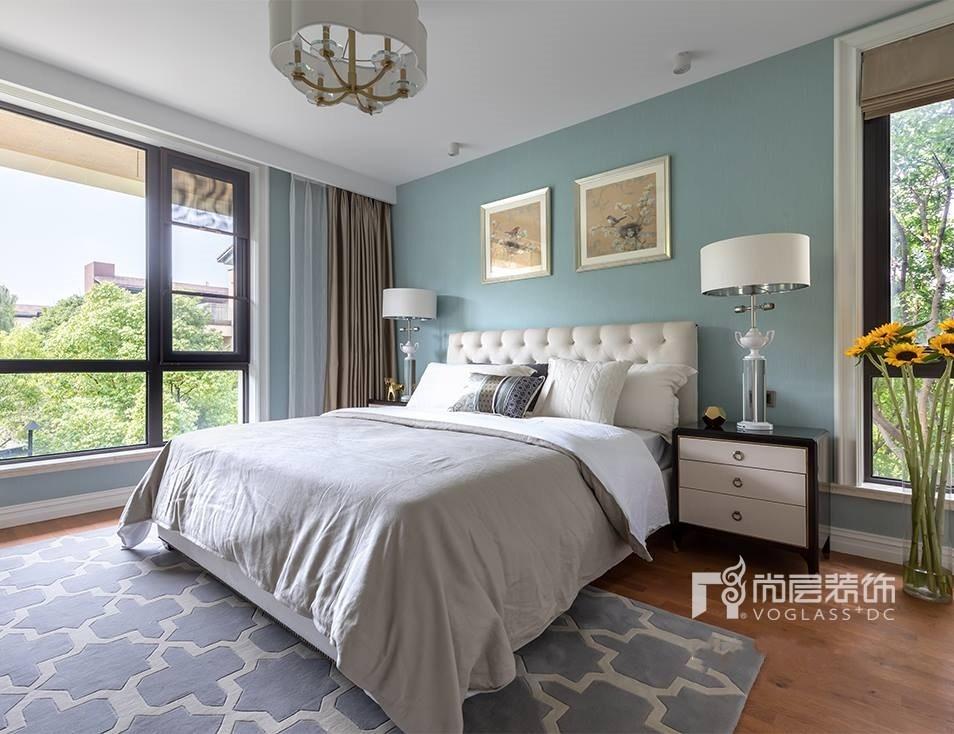 别墅 设计 实景 案例 现代美式风 次卧图片来自无锡别墅设计s在仁恒观棠别墅装修470m²的分享