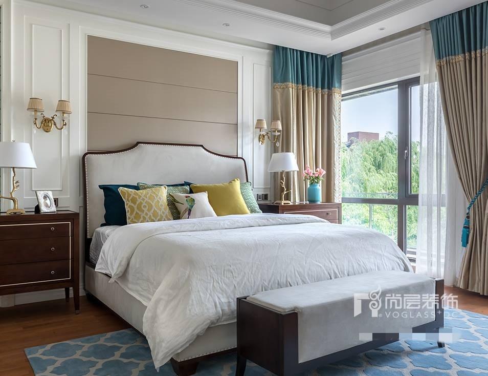 别墅 设计 实景 案例 现代美式风 主卧图片来自无锡别墅设计s在仁恒观棠别墅装修470m²的分享