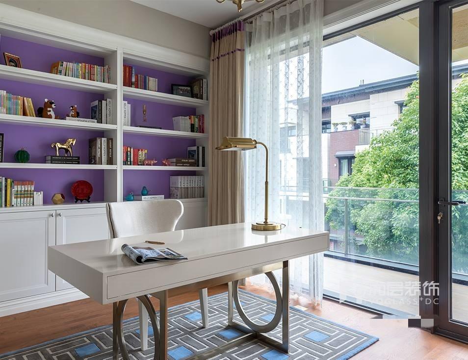 别墅 设计 实景 案例 现代美式风 书房图片来自无锡别墅设计s在仁恒观棠别墅装修470m²的分享