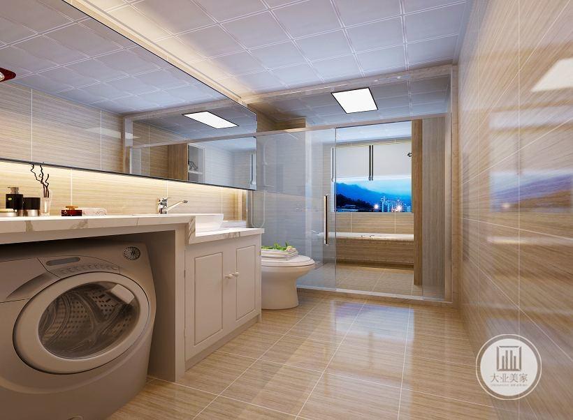 简约 混搭 白领 收纳 旧房改造 卫生间图片来自大业美家 家居装饰在荣盛华府西江月户型装修185的分享