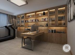 简约 混搭 白领 收纳 旧房改造 书房图片来自大业美家 家居装饰在荣盛华府西江月户型装修185的分享