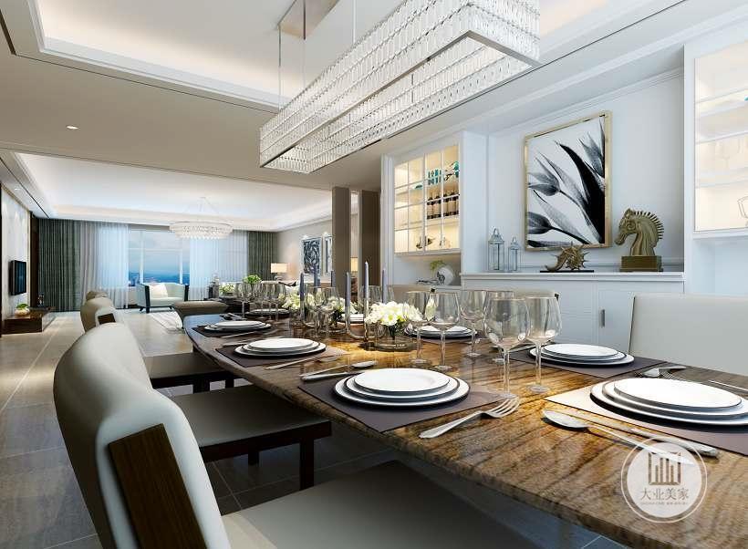 简约 混搭 白领 收纳 旧房改造 餐厅图片来自大业美家 家居装饰在荣盛华府西江月户型装修185的分享