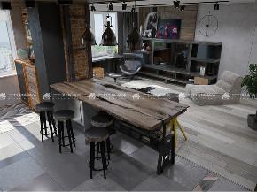 混搭 工业风 别墅 白领 未来家 梦想家 旧房改造 欧式 80后 厨房图片来自二十四城装饰(集团)昆明公司在中海云麓九里 混搭工业风的分享