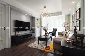 美式 混搭 白领 小资 90后 收纳 旧房改造 未来家 三居 客厅图片来自二十四城装饰(集团)昆明公司在融城园城 美式的分享