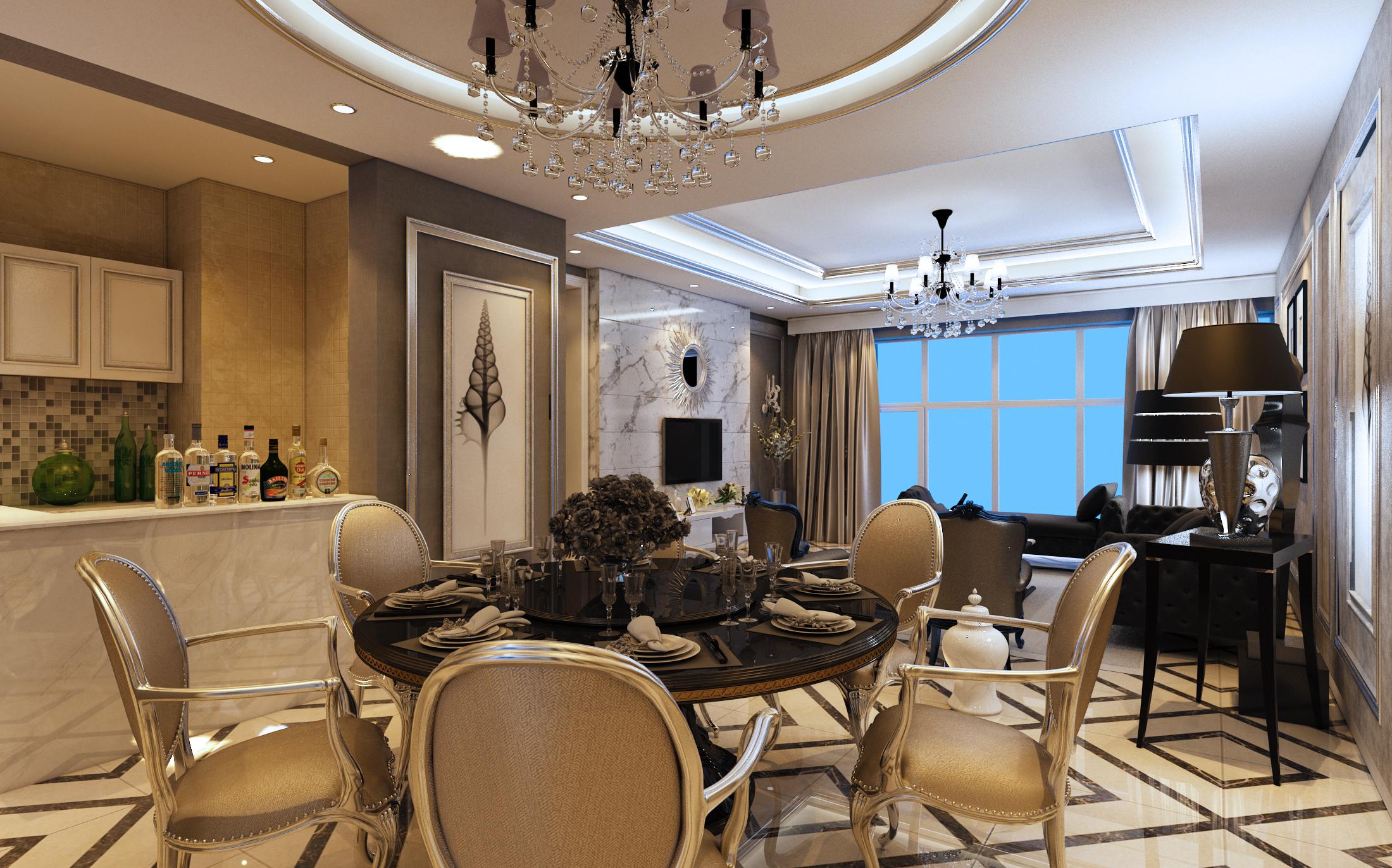 欧式 三居 餐厅图片来自用户20000004812512在银色欧美——东方名都的分享