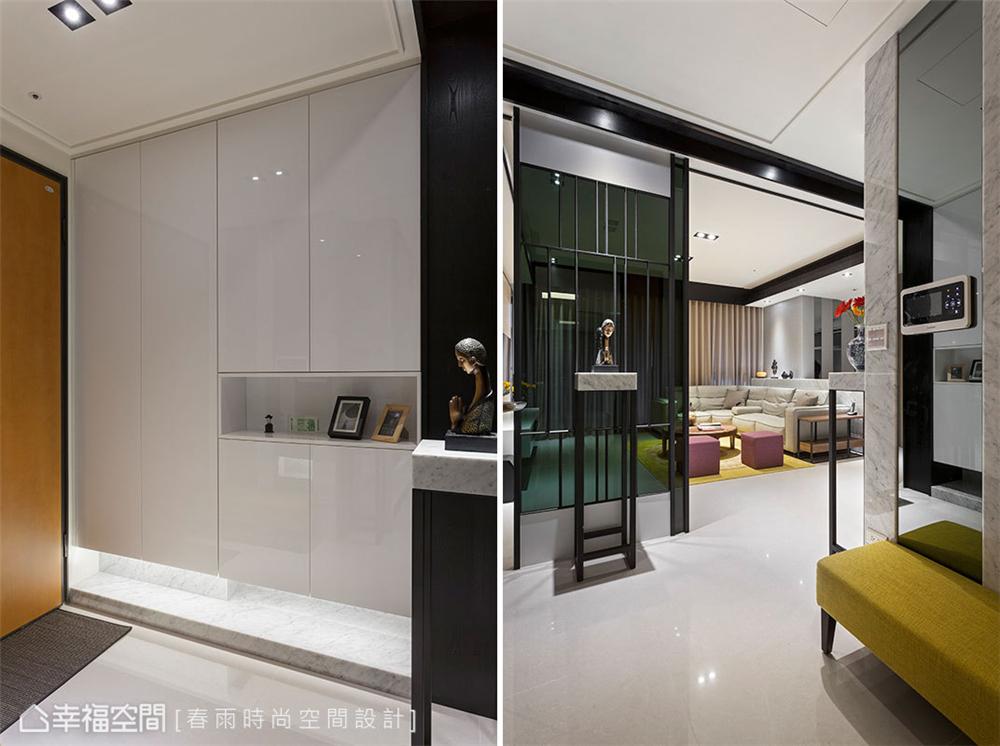 装修设计 装修完成 现代风格 玄关图片来自幸福空间在149平,异材质搭接 现代都会宅的分享