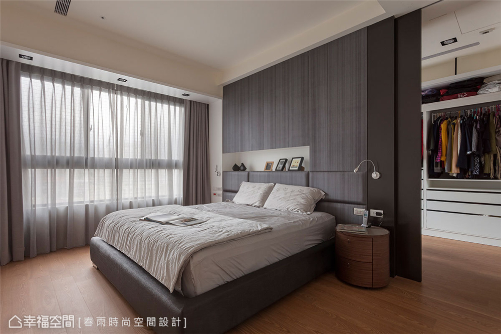 装修设计 装修完成 现代风格 卧室图片来自幸福空间在149平,异材质搭接 现代都会宅的分享