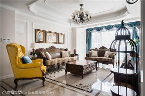 半包 美式 幸贏空间 80后 小资 白领 客厅图片来自幸福空间在162平,轻怀旧 重优雅 微缤纷的分享