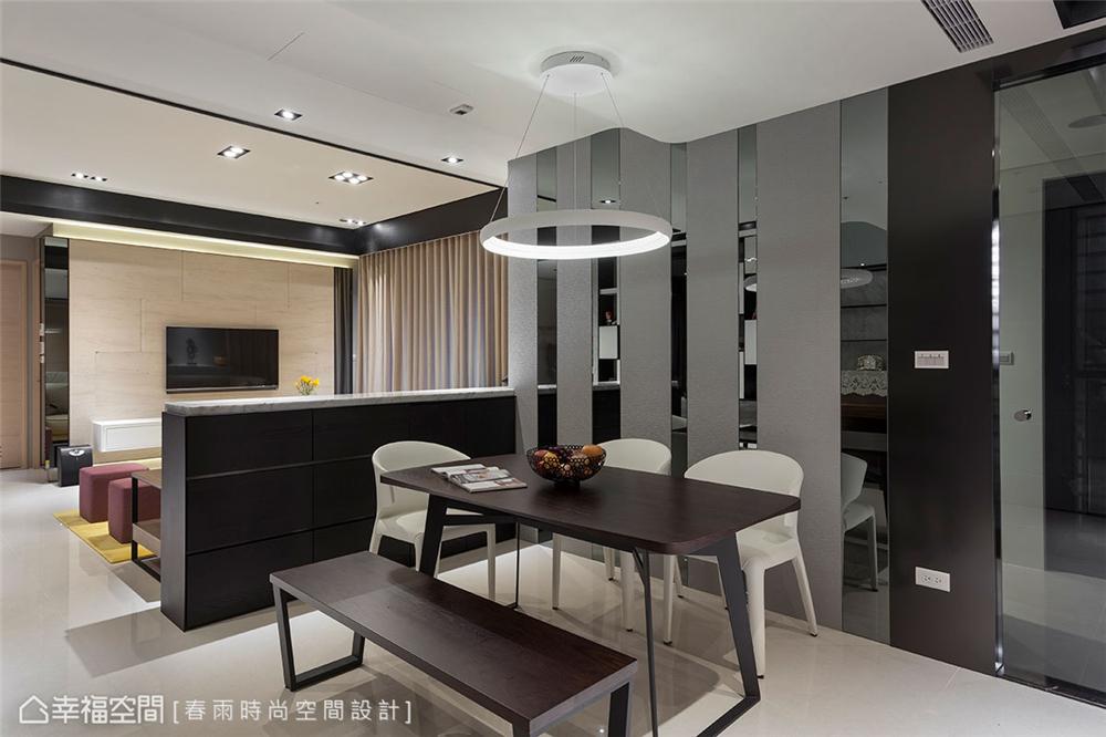 装修设计 装修完成 现代风格 餐厅图片来自幸福空间在149平,异材质搭接 现代都会宅的分享