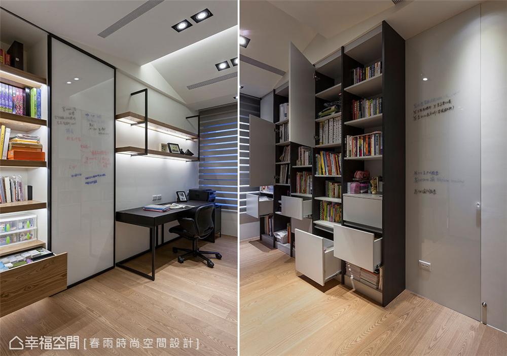 装修设计 装修完成 现代风格 书房图片来自幸福空间在149平,异材质搭接 现代都会宅的分享