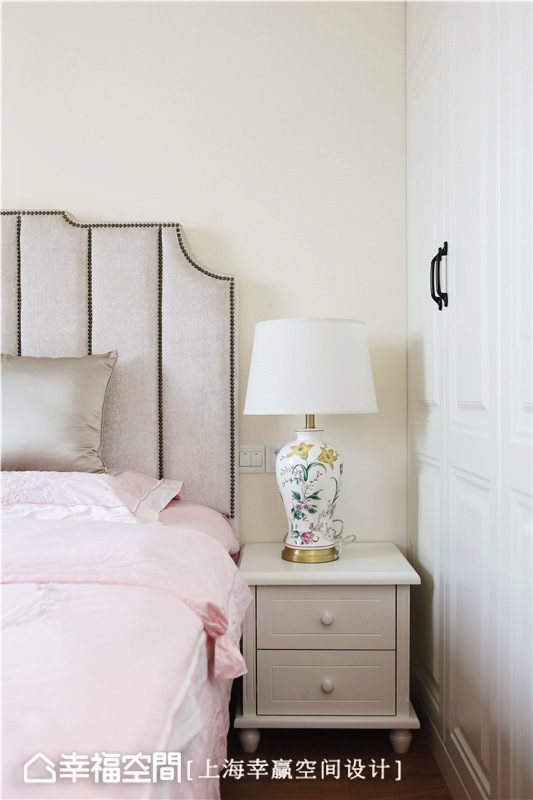 简美 幸赢空间 上海装修 80后 小资 收纳 白领 新房 卧室图片来自幸福空间在86平,储物极限挑战!简约美式的分享