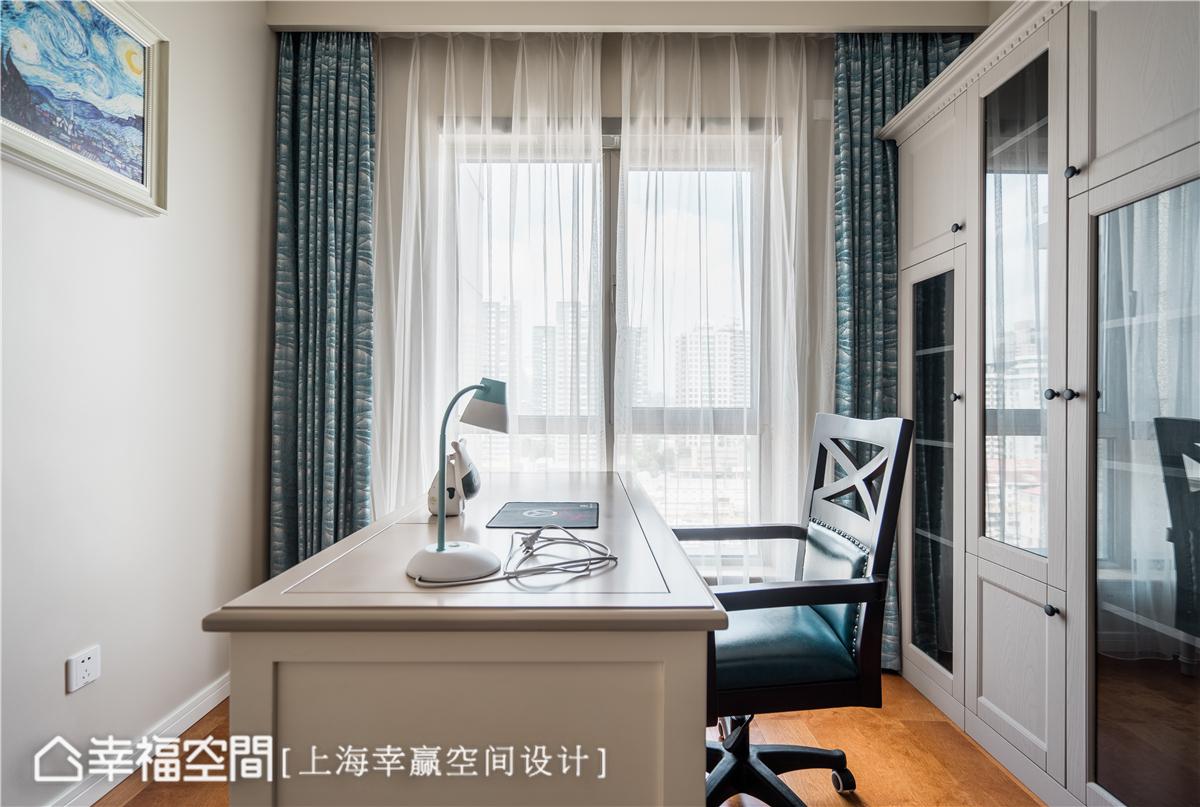 幸福空间 幸赢空间 装修设计 白领 收纳 80后 小资 室内设计 上海装修 书房图片来自幸福空间在106平,重拟空间比例享受好时光的分享