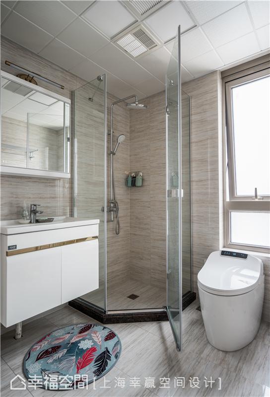 幸福空间 幸赢空间 装修设计 白领 收纳 80后 小资 室内设计 上海装修 卫生间图片来自幸福空间在106平,重拟空间比例享受好时光的分享
