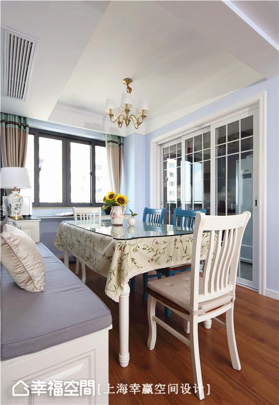 简美 幸赢空间 上海装修 80后 小资 收纳 白领 新房 餐厅图片来自幸福空间在86平,储物极限挑战!简约美式的分享