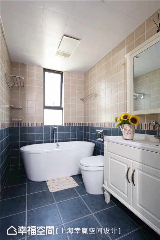 简美 幸赢空间 上海装修 80后 小资 收纳 白领 新房 卫生间图片来自幸福空间在86平,储物极限挑战!简约美式的分享