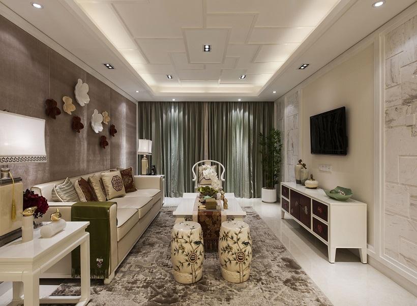 混搭 简约 设计案例 客厅 餐厅 卫生间 客厅图片来自大业美家 家居装饰在石家庄林荫大院现代装修风格的分享