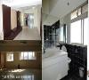 原始屋况(公领域) 不论是玄关或是卫浴空间,在制式的办公空间设计下,呈现出一成不变的风格。