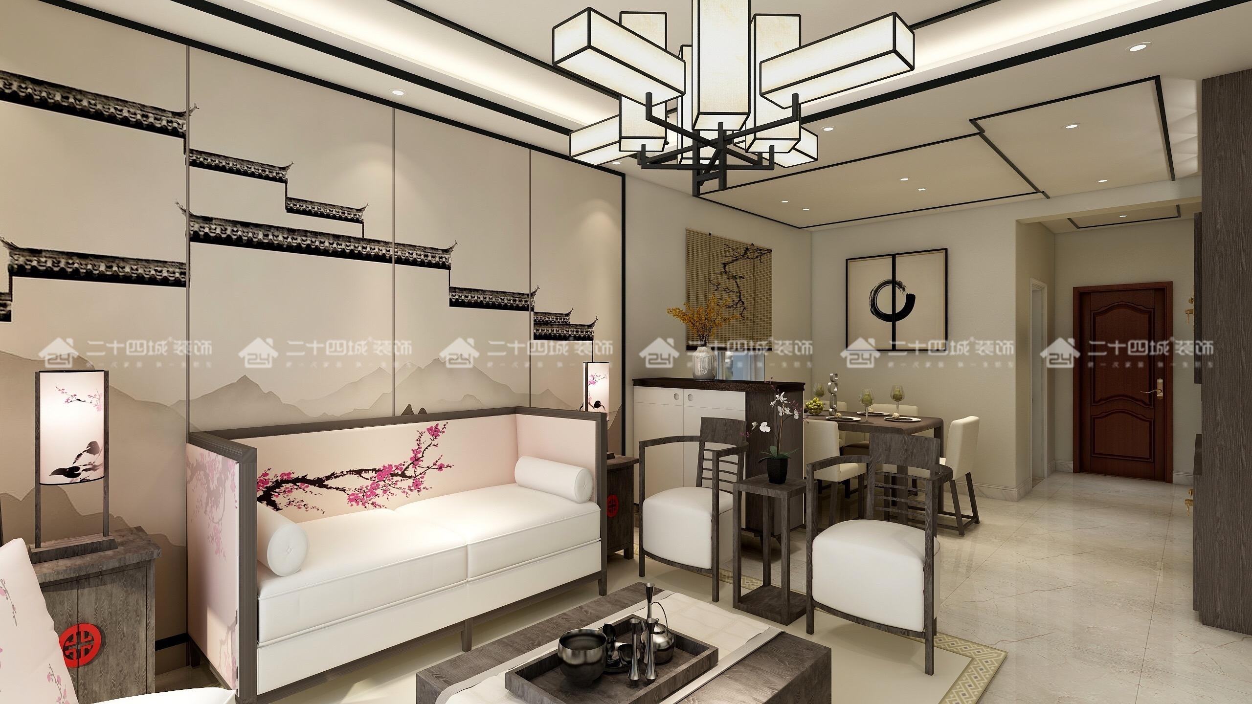 中式 中式古韵 新中式 混搭 三居 白领 收纳 旧房改造 80后 餐厅图片来自二十四城装饰(集团)昆明公司在金泰国际 新中式的分享