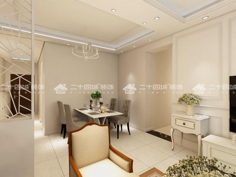 欧式 白领 收纳 旧房改造 80后 小资 简约 混搭 三居 餐厅图片来自二十四城装饰(集团)昆明公司在俊发·紫薇苑  欧式的分享