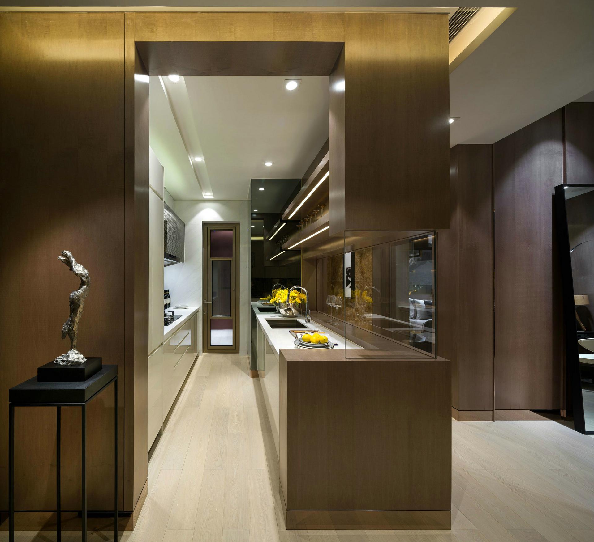 厨房图片来自西安紫苹果装饰工程有限公司在75平公寓的分享