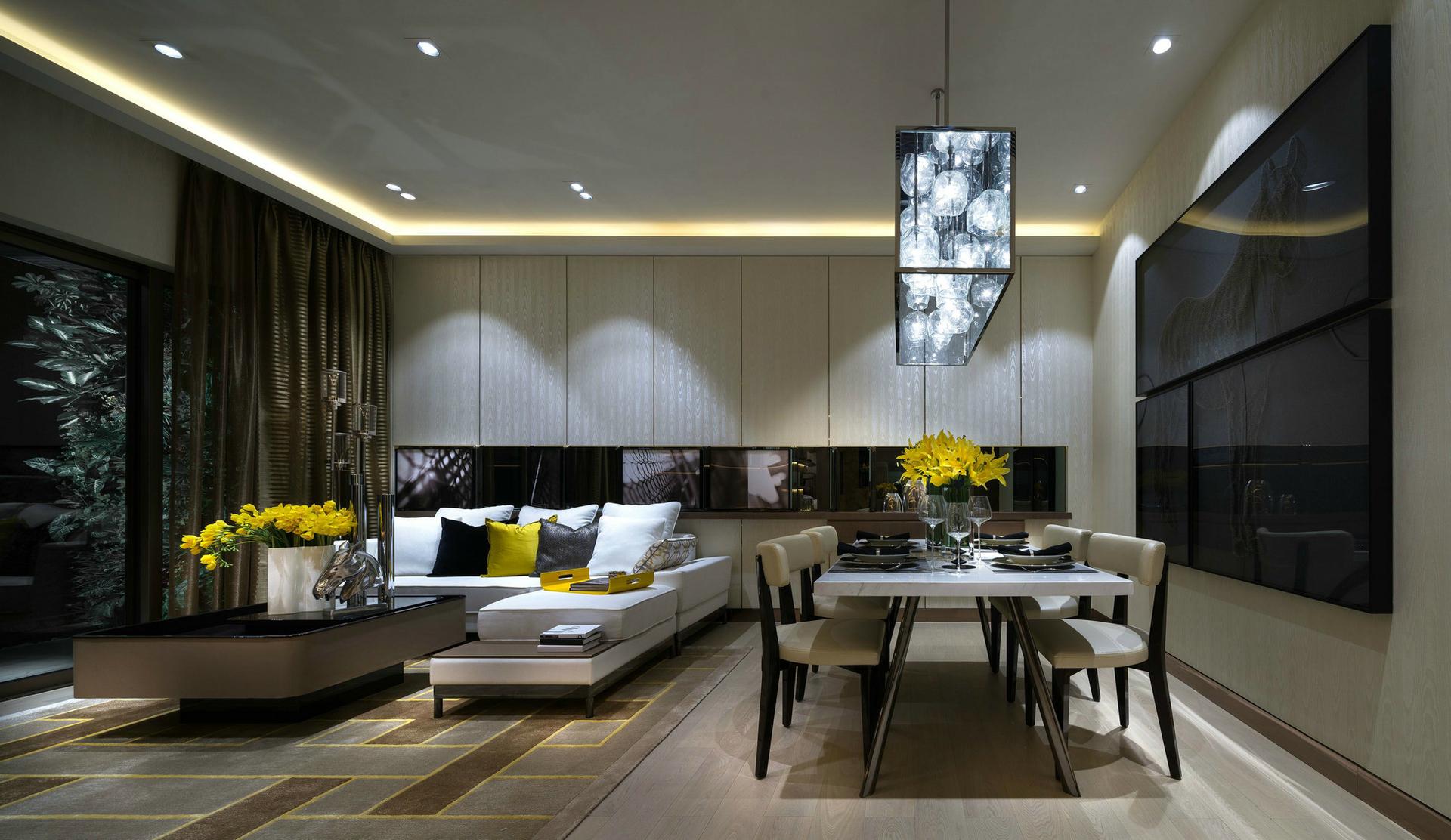 客厅图片来自西安紫苹果装饰工程有限公司在75平公寓的分享