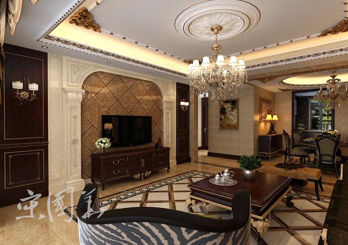 客厅图片来自沈阳百家装饰小姜在百家装饰华润橡树湾150平欧式的分享
