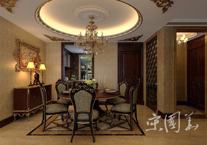餐厅图片来自沈阳百家装饰小姜在百家装饰华润橡树湾150平欧式的分享