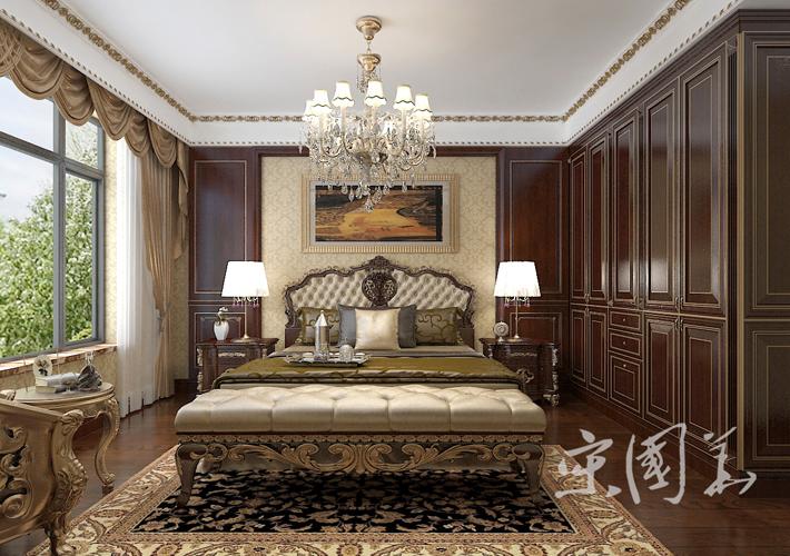 卧室图片来自沈阳百家装饰小姜在百家装饰华润橡树湾150平欧式的分享