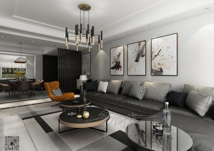 客厅图片来自沈阳百家装饰小姜在百家装饰华润二十四城116平现代的分享
