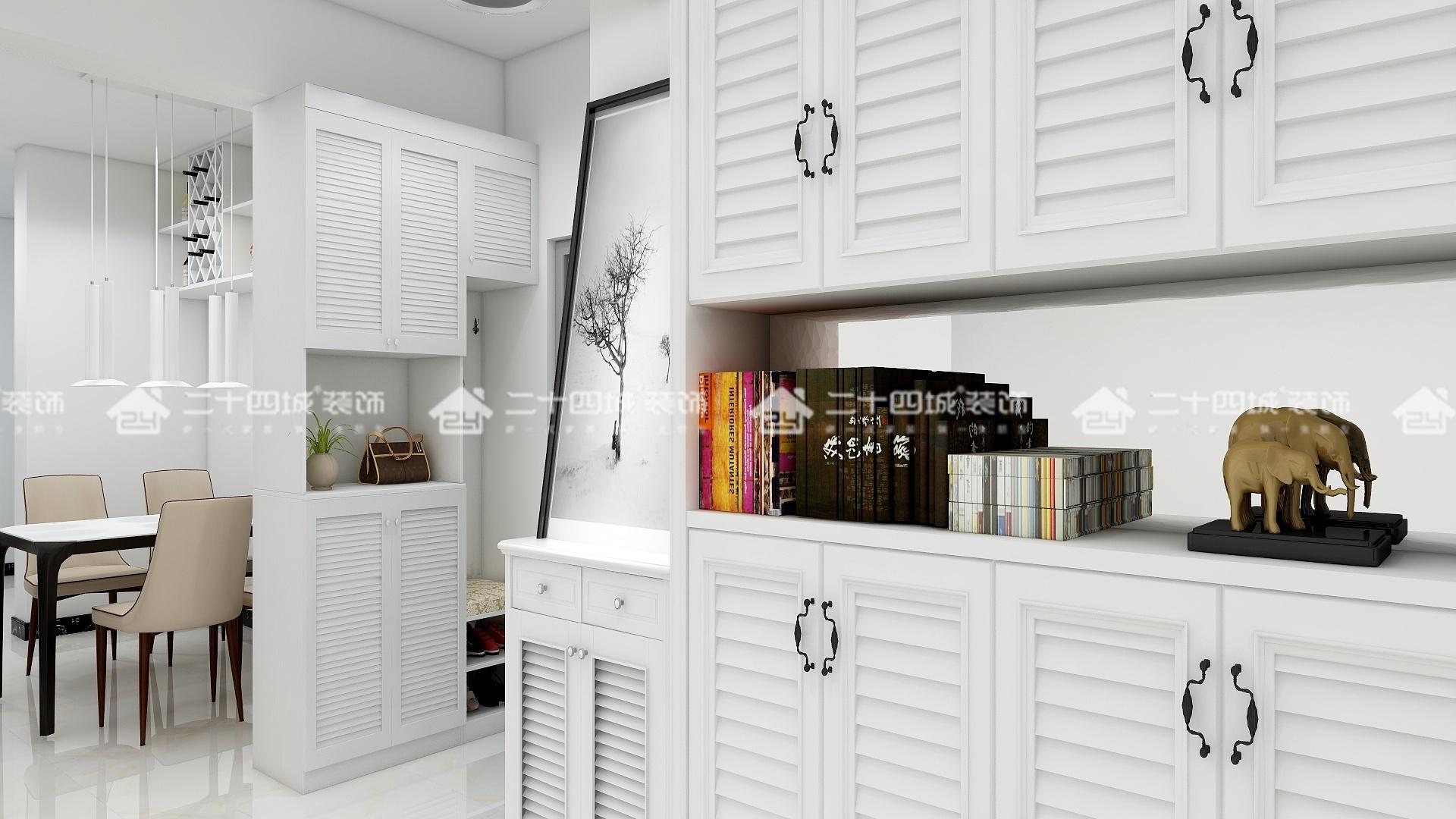 现代简约 简约 现代 三居 白领 收纳 旧房改造 小资 混搭 玄关图片来自二十四城装饰(集团)昆明公司在新迎小区 现代简约的分享