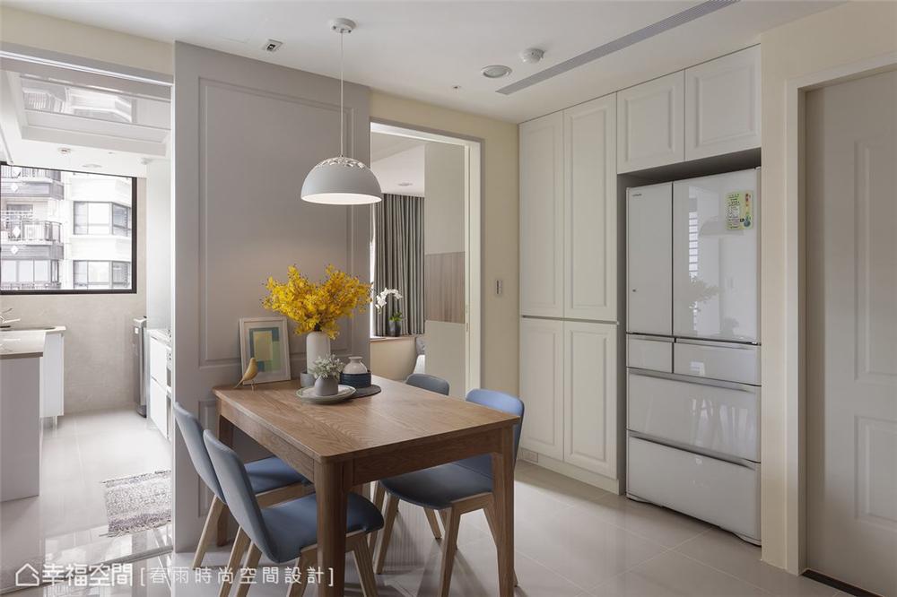 装修设计 装修完成 休闲风格 餐厅图片来自幸福空间在69平, 跨龄美式混搭温馨宅的分享