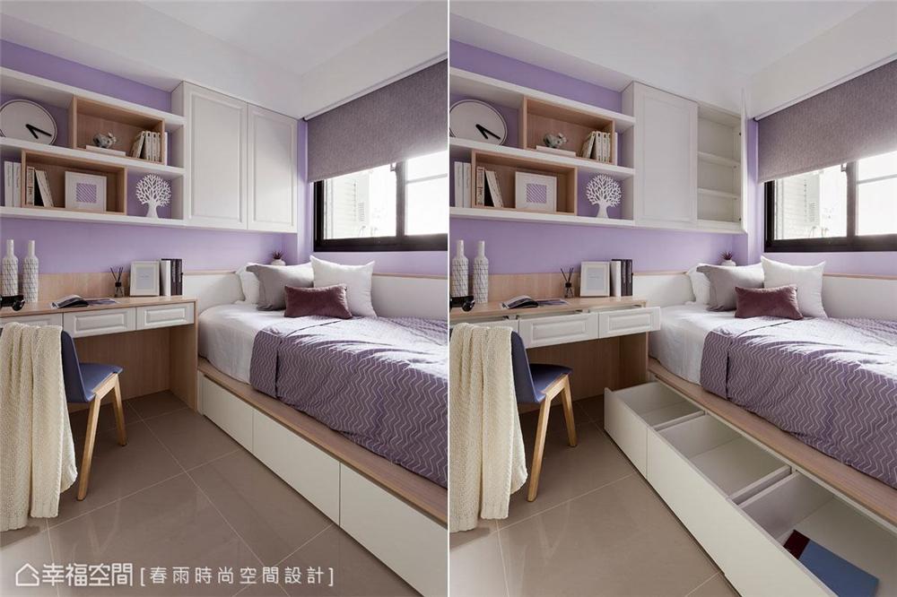 装修设计 装修完成 休闲风格 卧室图片来自幸福空间在69平, 跨龄美式混搭温馨宅的分享