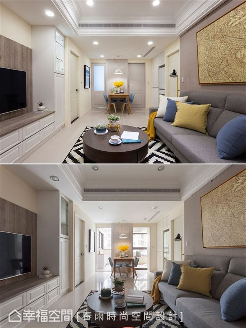 装修设计 装修完成 休闲风格 客厅图片来自幸福空间在69平, 跨龄美式混搭温馨宅的分享