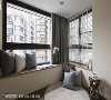 多功能阳光房 春雨时尚空间设计抓住双面采光的优势,在靠窗处设计L型卧榻并铺设木地板,选择窗帘与百页相互搭配,玩出空间趣味。
