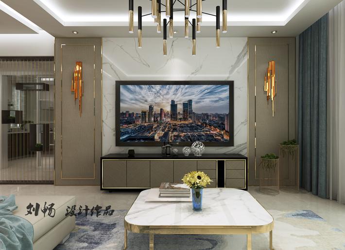客厅图片来自沈阳百家装饰小姜在百家装饰益格清水湾93平现代风格的分享