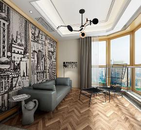 别墅 现代 简约 四居 阳台图片来自申远空间设计北京分公司在恒大华府的分享