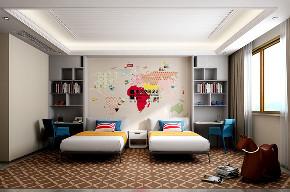 别墅 现代 简约 四居 儿童房图片来自申远空间设计北京分公司在恒大华府的分享
