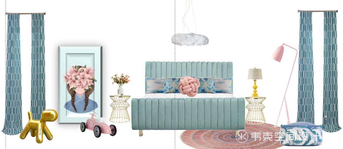 三居 儿童房图片来自韦克空间设计在轻奢三居,一饰精致,满室风雅的分享