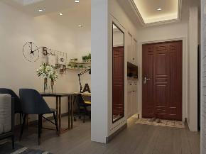 简约 混搭 80后 小资 玄关图片来自武汉申阳红室内设计在硚口交通小区的分享